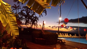 The Hula Grill in Maui = One of my favorite reading spots